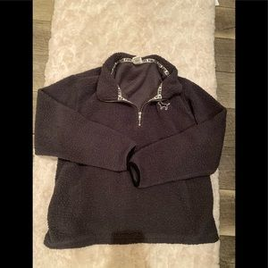 VS Pink Sherpa pullover size large